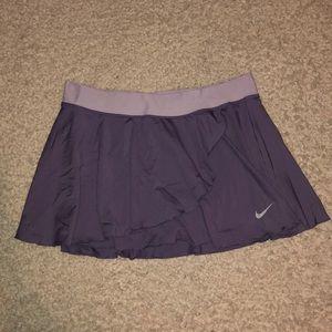 Nike Purple Skirt Skort Tennis workout Dry Fit Lg